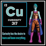 Curiosity Action Figure - IAmElemental - Series II / Wisdom, character card