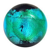 Handmade Constellation Marble, 22mm teal