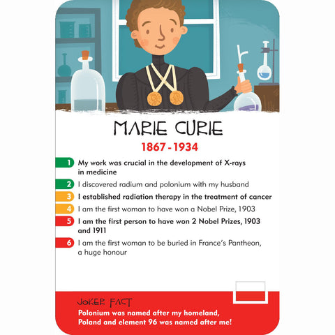 History Heroes - Scientists, Marie Curie card