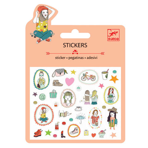 Fashion Mini Stickers by Djeco, in packaging