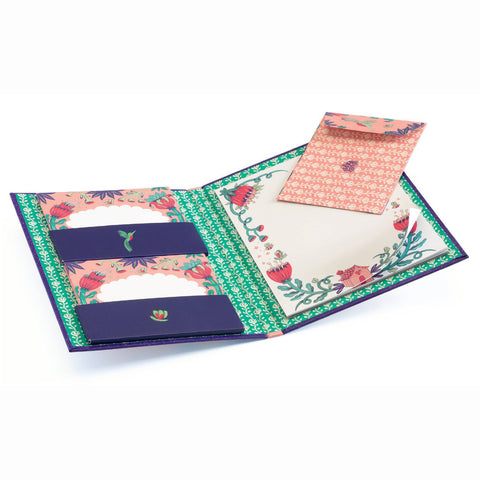Writing Set  - Melissa, open wallet with contents