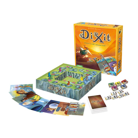 Dixit, box, board, cards and tokens