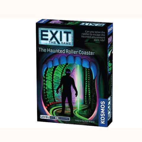 EXIT The Game - The Haunted Roller Coaster, front of box