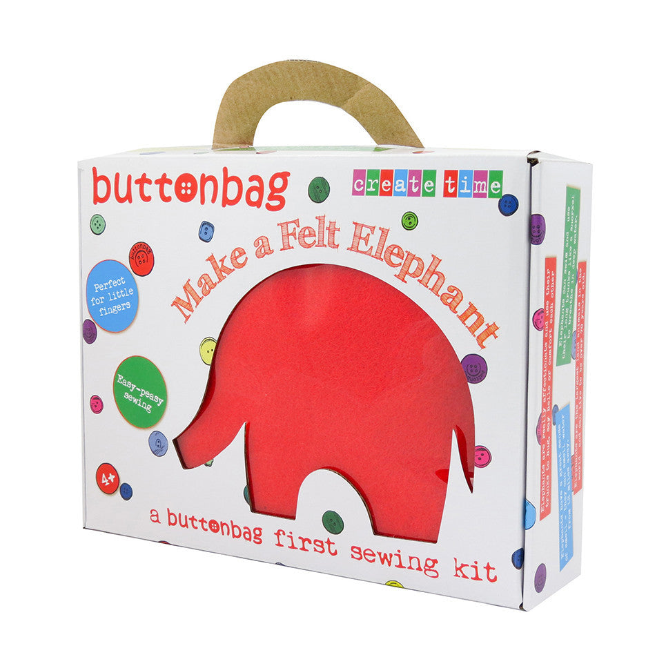 Elephant First Sewing Kit - Buttonbag