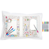 Doodle Fairytales & Legends Pillowcase, writing side & pens
