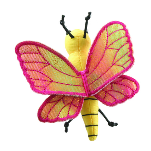 Butterfly Finger Puppet top down view showing wings