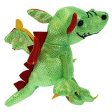 Dragon (Green) Finger Puppet back view