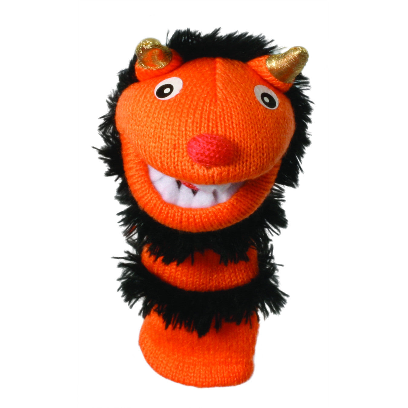 Mini Sockettes - Pumpkin Finger Puppet