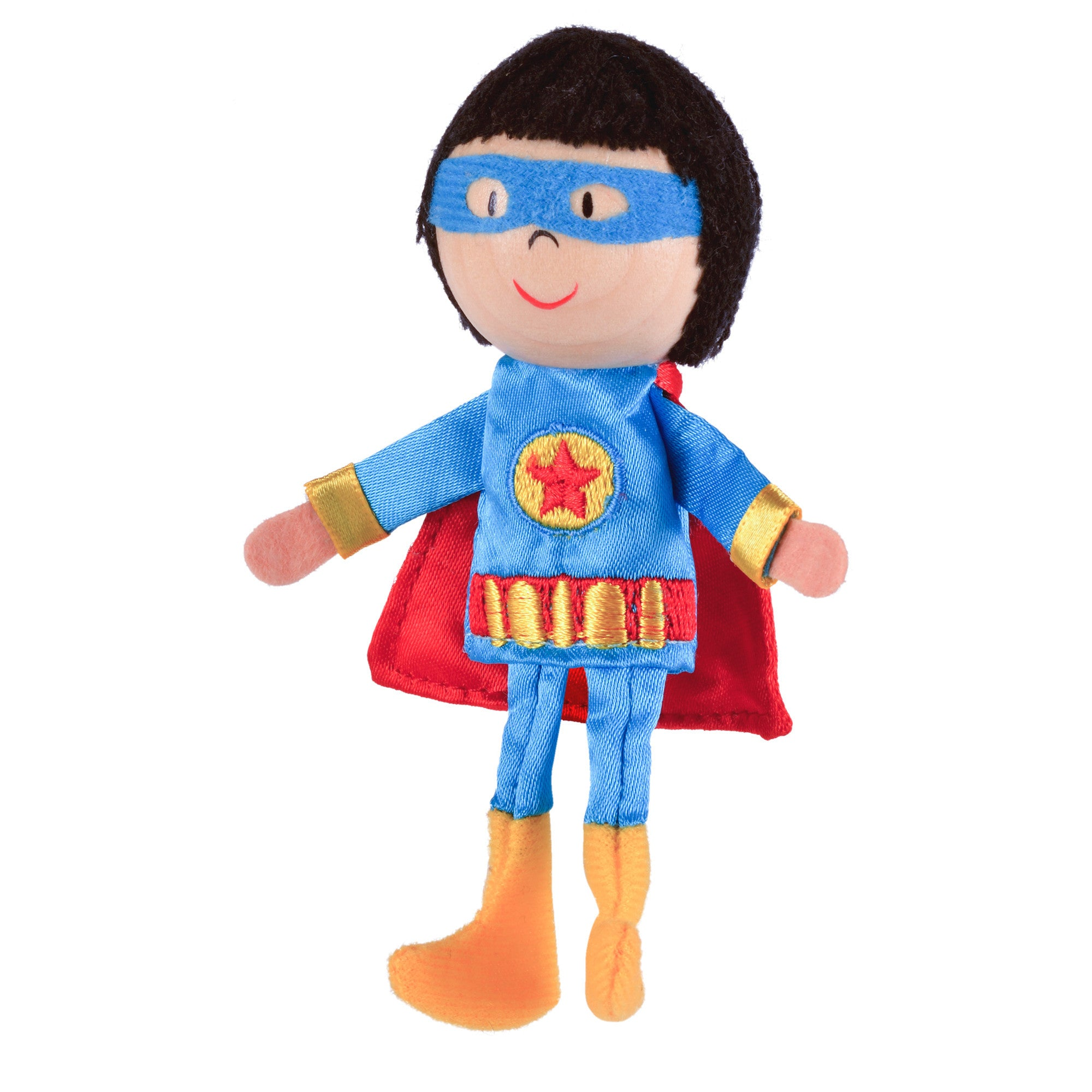 Superhero finger puppet full length
