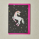 Dancing Unicorn - Greeting Card with Iron On Patch & envelope