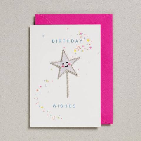 Birthday Wishes Star Wand , card in front of envelope