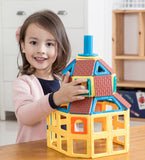 Magformers Village Set - 110 pieces, girl with village model