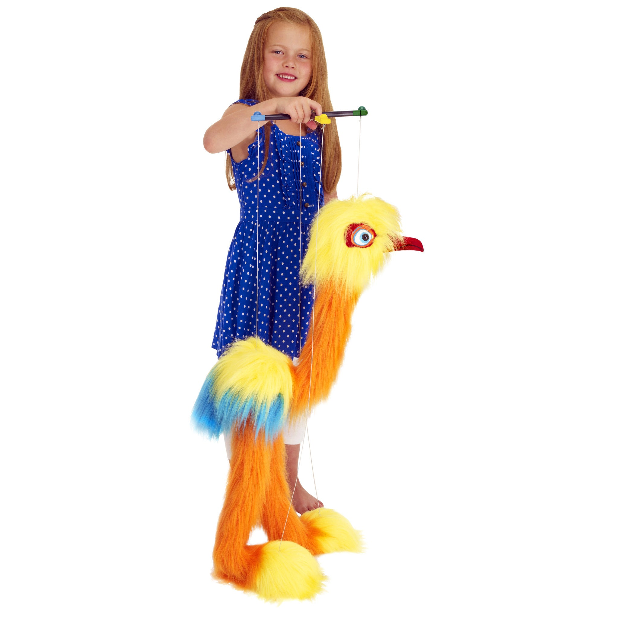 Marionette Giant Birds - Tropical Bird operated by girl