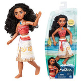 Moana of Oceania Adventure Doll by Hasbro, doll in and out of packaging