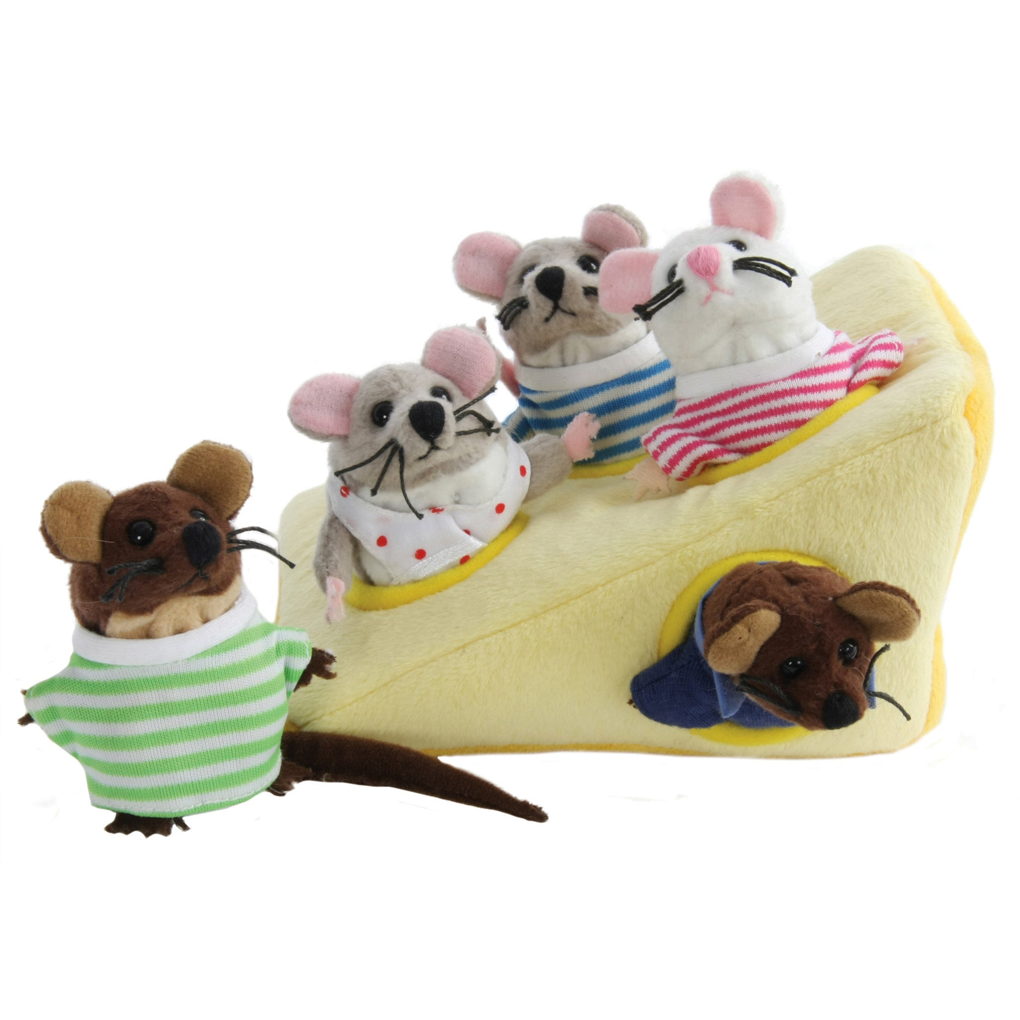 Hide-Away Puppets - Mouse Family in Cheese