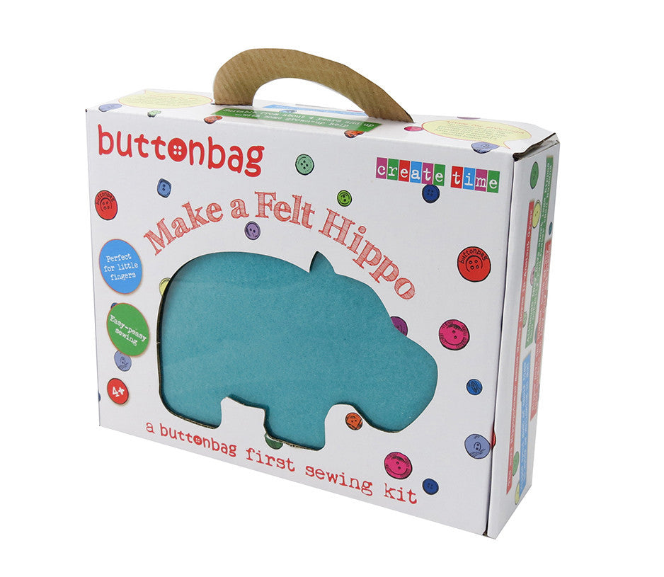 Hippo First Sewing Kit - Buttonbag