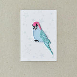 Copy of Iron on Patch - Blue Budgie