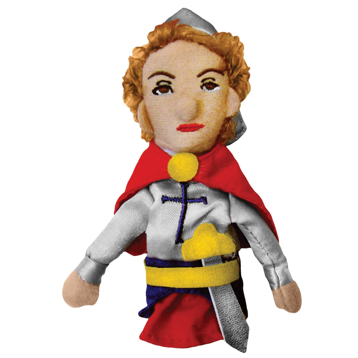 Joan of Arc Finger Puppet white background