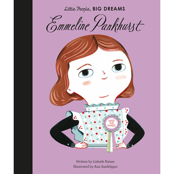 Emmeline Pankhurst front cover, little people, big dreams