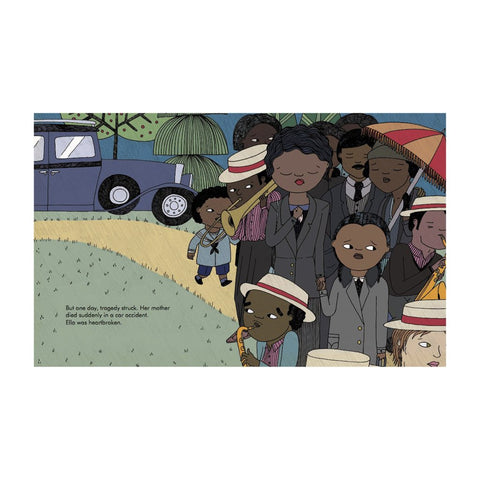 Ella Fitzgerald - Little People, Big Dreams Picture Book, funeral spread
