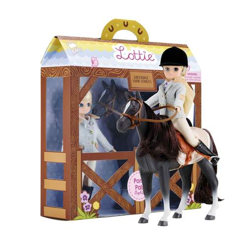 Pony pals, mounted rider next to box