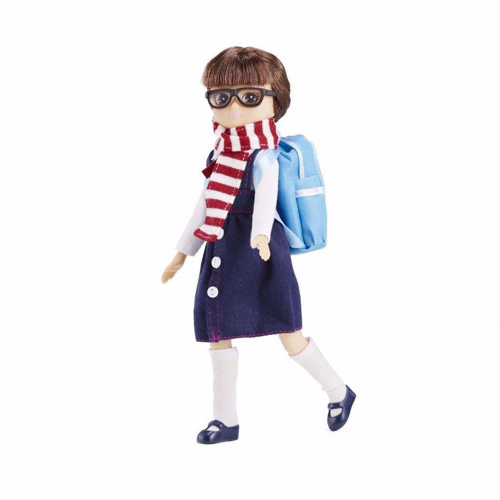 NEW Lottie School Days Girl Doll In Uniform With Scarf Backpack And Accessories