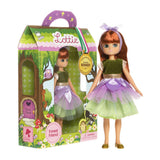 Forest Friend Lottie Doll, doll standing next to boxed doll