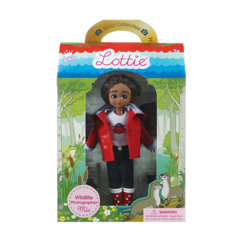Wildlife Photographer Mia - Lottie Doll, packaged in box