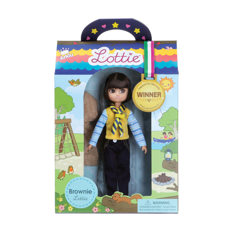 Brownie Lottie Doll, in packaging