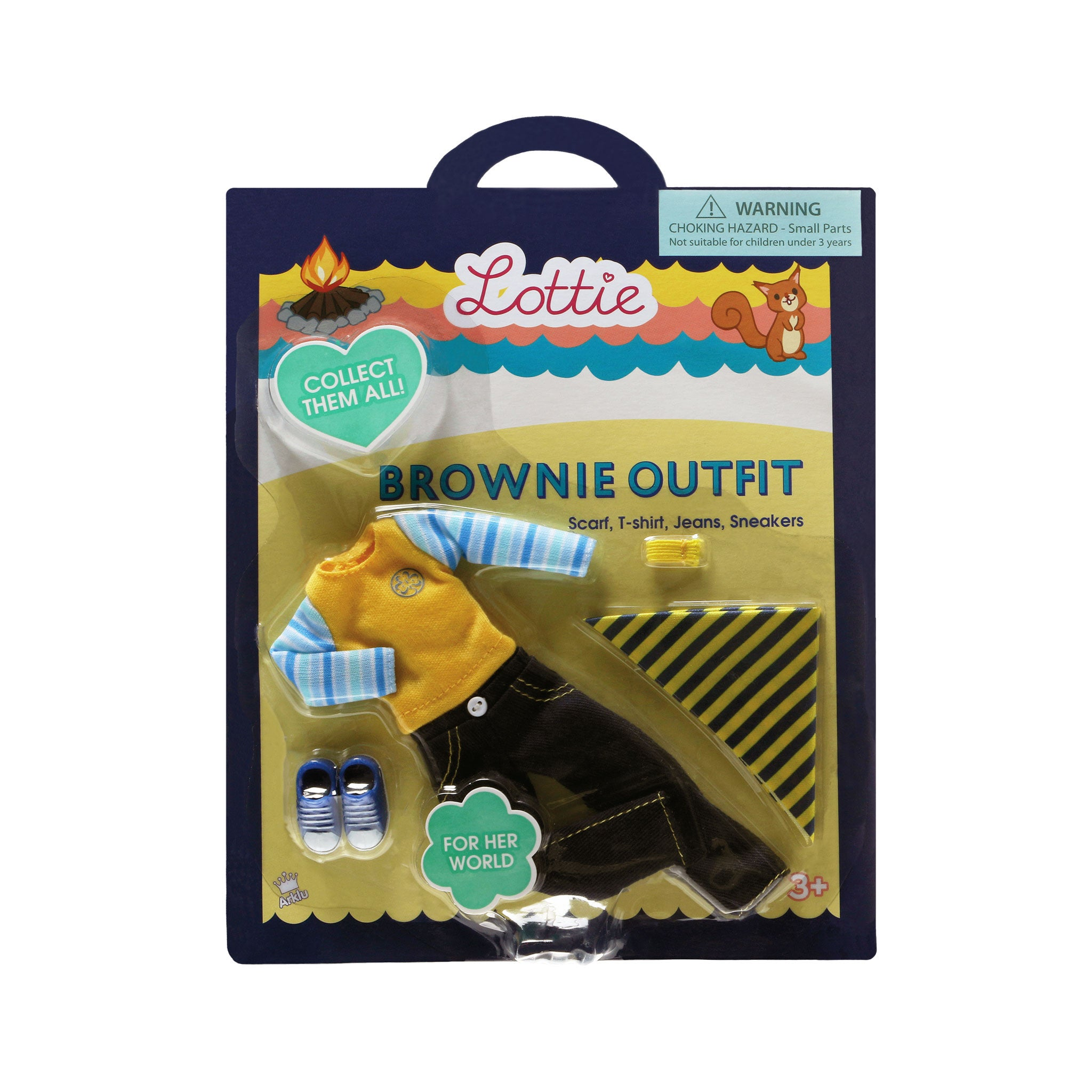 Brownie Outfit - Lottie Doll Accessory Set, in packaging