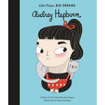 Audrey Hepburn, little people big dreams, front cover