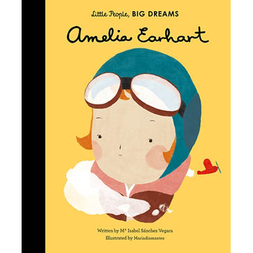 Amelia Earhart, little people, big dreams front cover