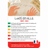 History Heroes - Children, Louis Braille card