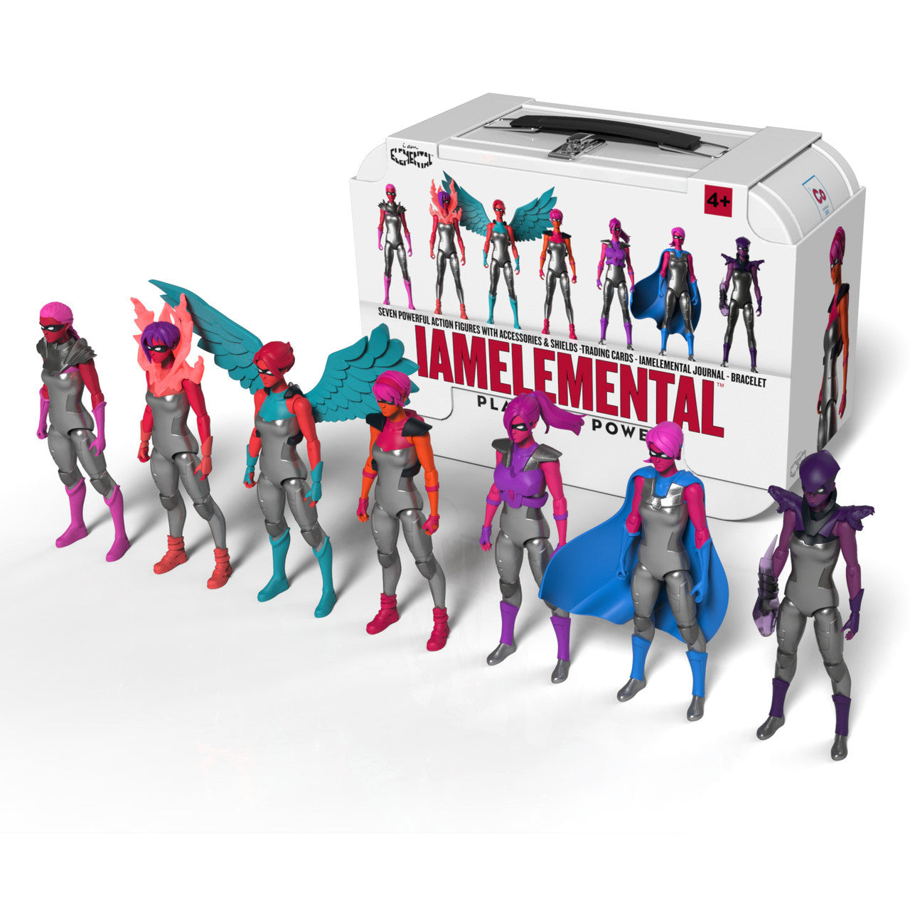 Series 1/Courage Lunchbox with 7 Action Figures - IAmElemental