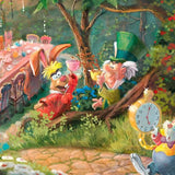 Alice in Wonderland - Thomas Kinkade Jigsaw Puzzle , detail of Mad Hatter