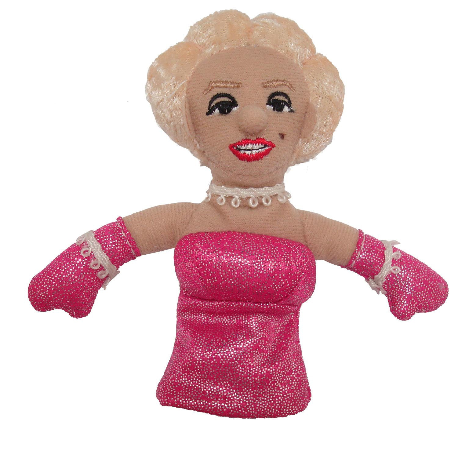 White background Marilyn Monroe Finger Puppet