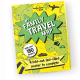 My family travel map front cover