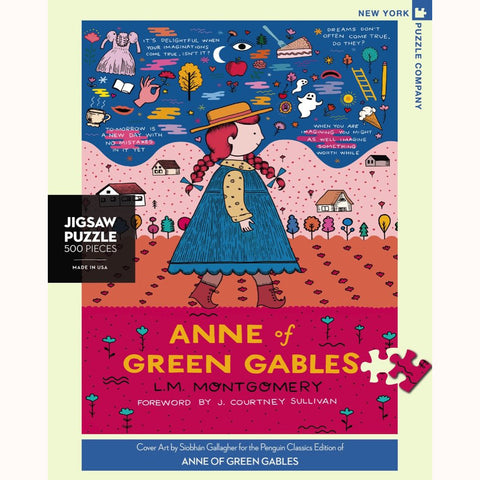 Anne of green gables puzzle, front of box image with border