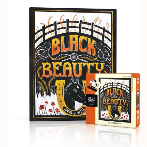 Black Beauty Mini Puzzle, finished image and box