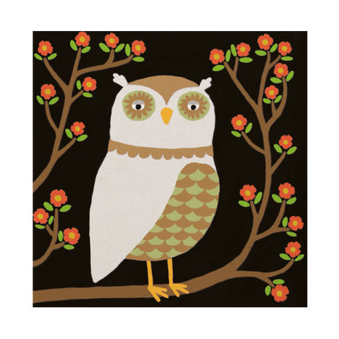 Owl Greeting Card.