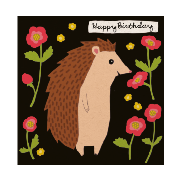 Hedgehog Birthday Card.