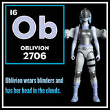 Oblivion Action Figure - IAmElemental - Series II / Wisdom, character card
