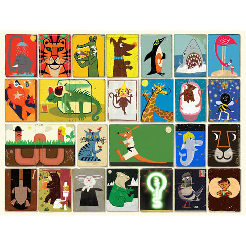 Animals Jigsaw Puzzle - Paul Thurlby, design on puzzle