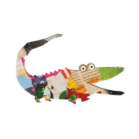 Paper Zoo - Create Collage Animals, example crocodile