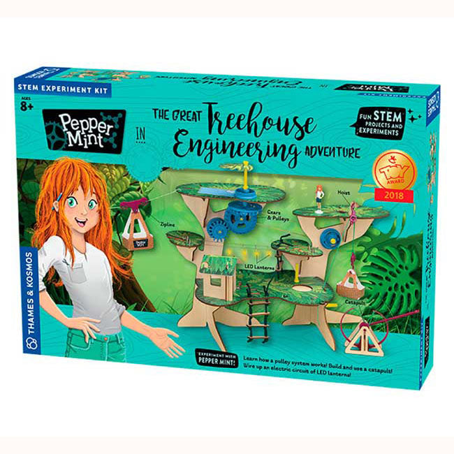 Pepper Mint treehouse engineering adventure front of box