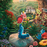 Alice in Wonderland - Thomas Kinkade Jigsaw Puzzle detail of Queen
