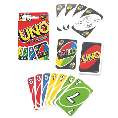 UNO Card Game, unboxed