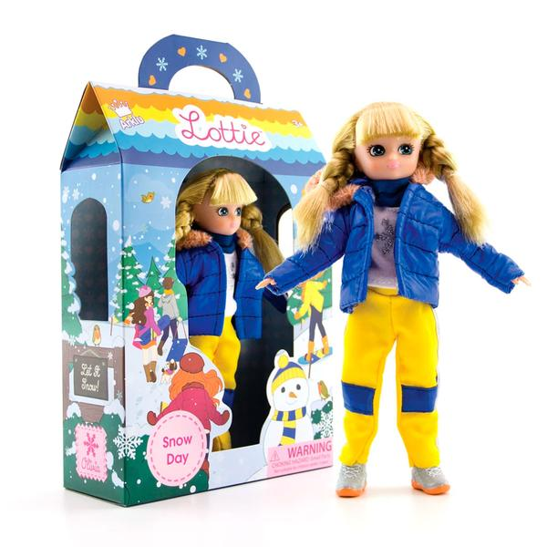 Snow day Lottie boxed on angle , unboxed Lottie front on