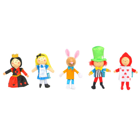 Alice in Wonderland Finger Puppets Set, unboxed