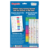 Magnetic Spanish Words, back cover